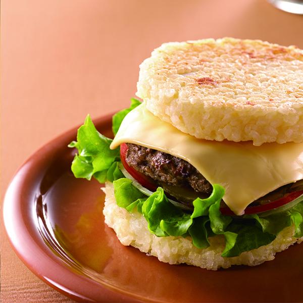 起司牛肉米漢堡